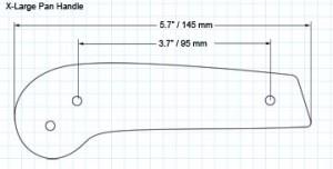 X-Large 2-screw pan handle