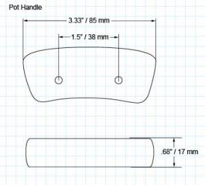 Vintage pot/dutch oven handle pair (2-screw)