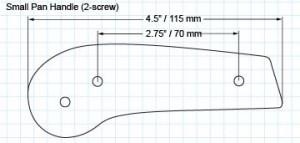 Small 2-screw pan handle